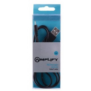 Amplify  AM6004/BK  NCharger Compatible Nokia charger Cable,Black