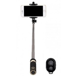Amplify AM7002-BK Bluetooth Mini Selfie Stick Black