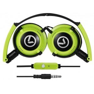 Amplify  AM2005-BKG  Symphony Headphones With Mic,Black & Green