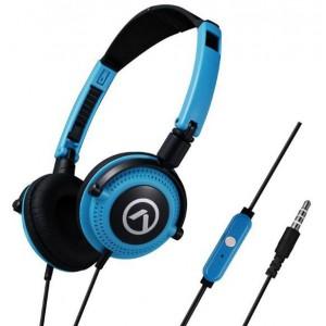 Amplify  AM2005-BBK  Symphony Headphones With Mic,Blue & Black