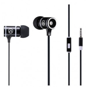 Amplify  AMP-1004-BKGR  Pro Load Series Earphones With Mic,Black