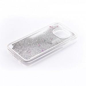 Tellur Hard Case Cover Glitter for Samsung S7 Edge, White