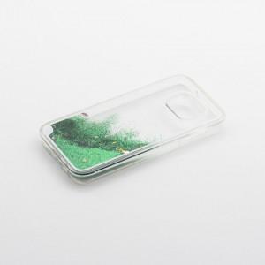 Tellur Hard Case Cover Glitter for Samsung S7 Edge, Green