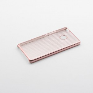 Tellur Hard Case Cover Horizontal Stripes for Huawei P9 Lite, Rose