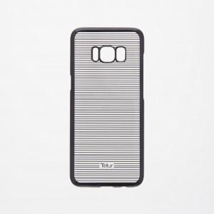 Tellur Hard Case Cover for Samsung S8, Horizontal Stripes Black