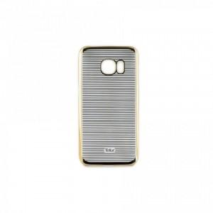 Tellur Hard Case Cover Horizontal Stripes for Samsung S7 Edge, Gold