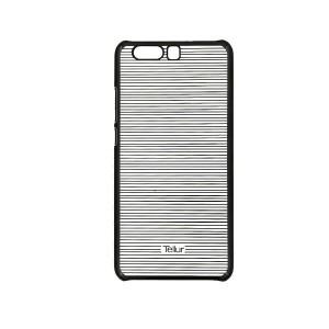 Tellur Hard Case Cover for Huawei P10 Plus, Horizontal Stripes Black