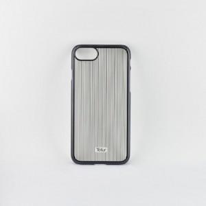 Tellur Hard Case Cover Vertical Stripes for iPhone 7/8, Black