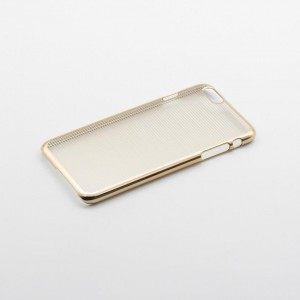 Tellur Hard Case Cover Horizontal Stripes for iPhone 6/6s, Gold