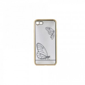 Tellur Silicone Cover Butterfly for iPhone 7/8, Gold