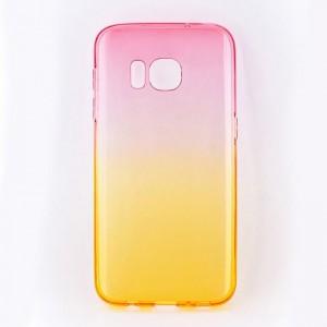 Tellur Silicone Cover  for Samsung S7, Pink&Orange