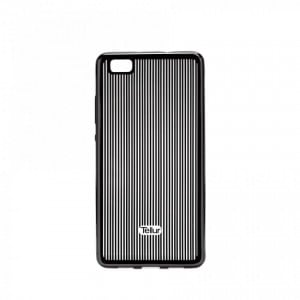 Tellur Silicone Cover Vertical Stripes for Huawei P8 Lite, Black