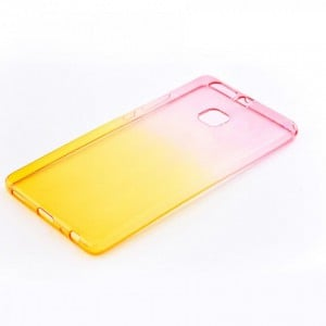 Tellur Silicone Cover  for Huawei P9 Lite, Pink&Orange