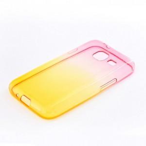 Tellur Silicone Cover  for Samsung J1 Mini, Pink&Orange