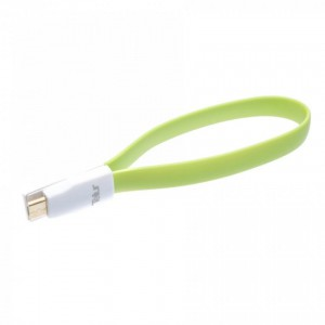 Tellur Data Cable magnetic Micro USB 0.2m - green