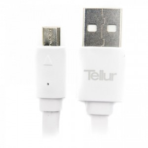 Tellur MicroUSB Flat Data Cable 100cm, White
