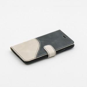 Tellur Book Case  Genuine Leather Wave for iPhone 7/8 Plus, Black&White