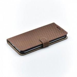 Bookcase Tellur Samsung S8 Plus Cross Leather Brown