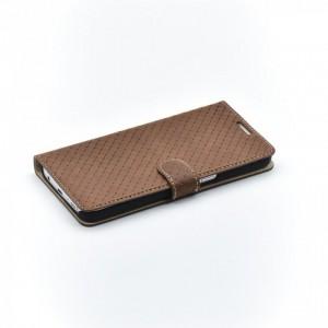 Tellur Book Case Genuine Leather Cross for Samsung S7 Edge, Brown