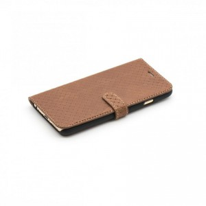 Tellur Book Case Genuine Leather Cross for iPhone 6/6s, Brown
