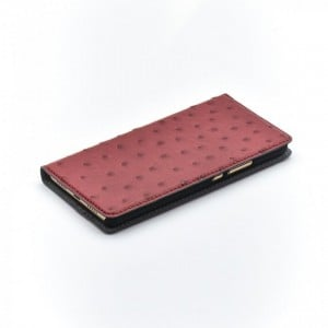 Bookcase Magnetic Tellur Huawei P10 Plus Ostrich Leather Red