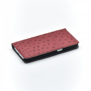 Bookcase Magnetic Tellur Samsung S8 Plus Ostrich Leather Red