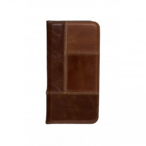 Tellur Book Case Magnetic Genuine Leather Patch for Samsung A3 2016, Brown