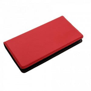 Tellur Book Case Magnetic Genuine Leather for Huawei Y5, Red