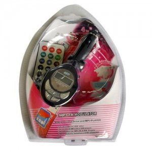 Mp3 player FM transmitter with SD/USB slot and IR remote