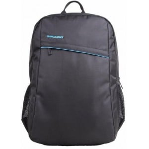 "Kingsons KF0047W-BK Spartan Series Black 15.6"" Laptop Backpack"