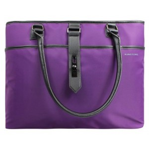 "Kingsons  KS3152W-PU  Bella Series 15.6"" Ladies Shoulder Bag-Purple"