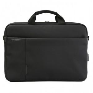 Kingsons  K9008W-BK  Charged Series 15.6″ Shoulder Bag with USB Port - Black