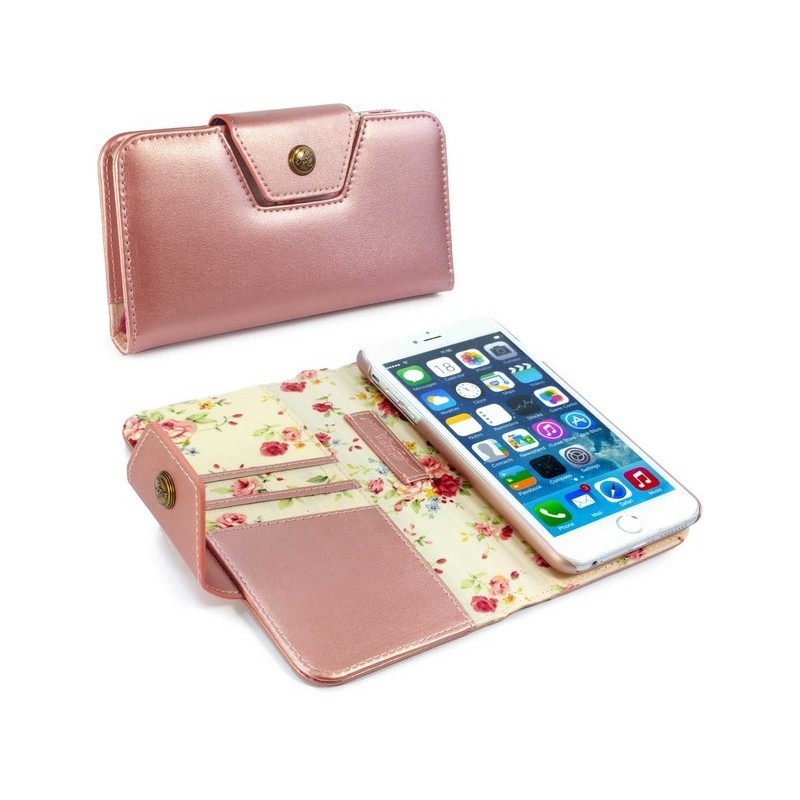 newest 34fbc b9c69 Tuff-Luv E8_92 Alston Craig Ladies Magnetic Case for iPhone 6 and 6s Plus -  Rose Gold Floral