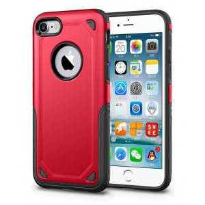 Tuff-Luv  J15_93  Rugged ShockProof Cover for Apple iPhone 7 & 8 - Red