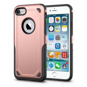 Tuff-Luv J15_94 Rugged ShockProof Cover for Apple iPhone 7 & 8 - Rose Gold