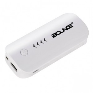 Bounce  BO-9001-WT  Juiced Series 4000mAh Power Bank - White