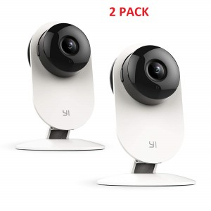 YI Home Camera Wireless IP Security Surveillance System-White (2 PACK)