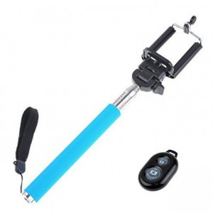 Bounce  BO-5002-BL  Pose Series Blue Bluetooth Selfie Stick