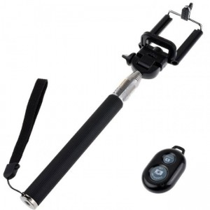 Bounce BO-5002-BK Pose Series Black Bluetooth Selfie Stick