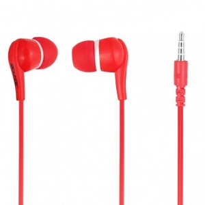 Bounce  BO-1001-RD  Hustle Red Earphones