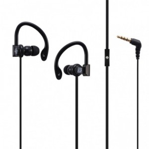 Bounce  BO-1004-BK  Break Series Black Hook Earphones