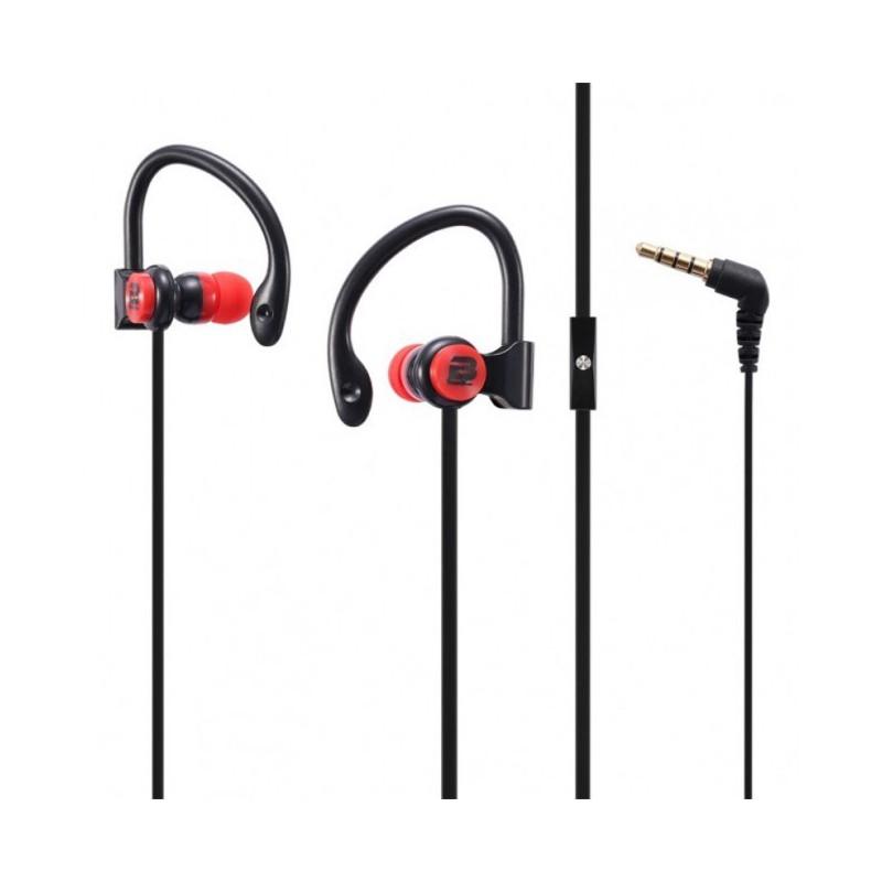 Bounce  BO-1004-BKRD  Break Series Black and Red Hook Earphones