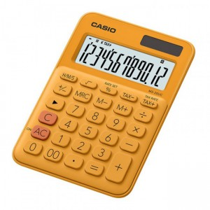 Casio  MS-20UC-RG-S-EC  Orange  12 Digit Desktop Calculator
