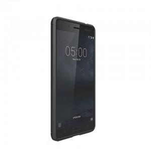 Tuff-Luv  I11_56  Carbon Fibre Effect Shockproof Protective Back Cover Case for Nokia 5 - Black