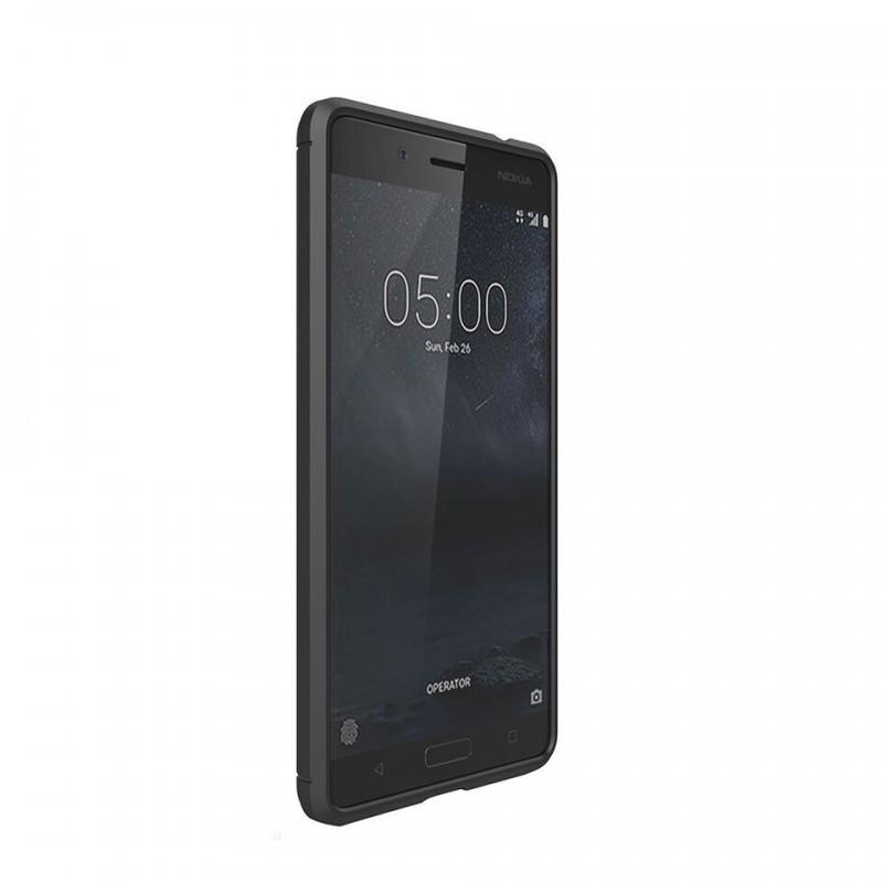 on sale 1e1d2 8e7ef Tuff-Luv I11_56 Carbon Fibre Effect Shockproof Protective Back Cover Case  for Nokia 5 - Black
