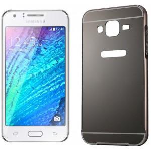 Tuff-Luv  I14_8  Metal Plating Bumper Case for Samsung Galaxy J1 - Black
