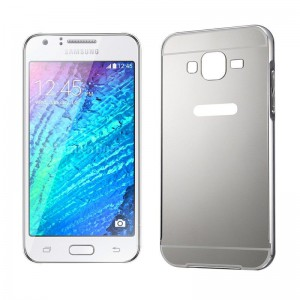 Tuff-Luv  I14_10  Metal Plating Bumper Case for Samsung Galaxy J5 - Silver