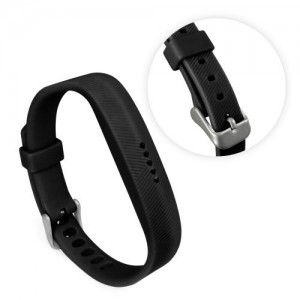 Tuff-Luv  G1_108  TPU Silicone Adjustable Strap Wristband for FitBit Flex 2 - Black