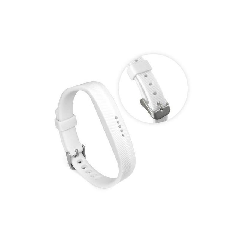 Tuff-Luv G1_109 Silicone Strap Band for the Fitbit Flex 2 - White