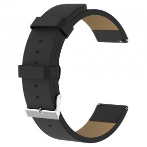 Tuff-Luv  J1_48  Leather Watch Strap for FitBit Versa - Black